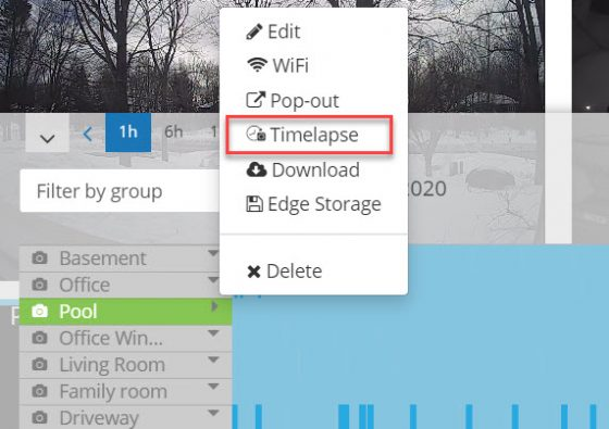 Camcloud Timelapse Feature